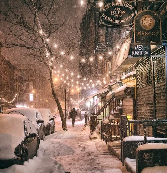 New York City - Snow - Janus - East Village Lights